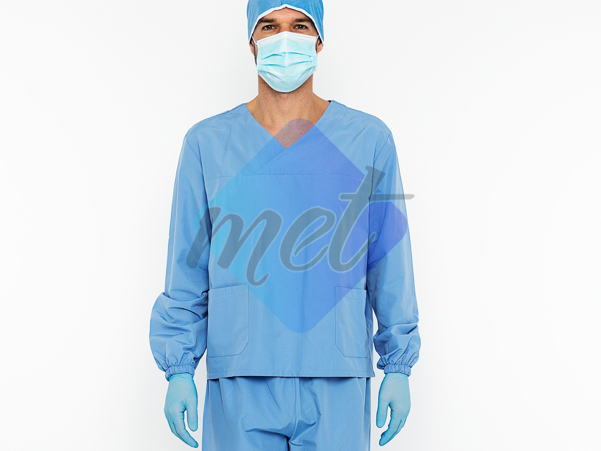 Scrubs With Long Sleeves 2 Piece Set Blue (Men)